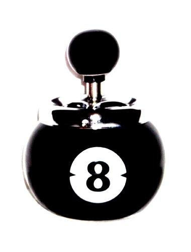 Keramik Drehaschenbecher Achenbecher Windaschenbecher Billiardaschenbecher Billiardkugel Schwarze Nr. 8