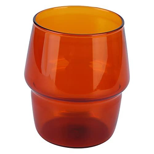 Taza de té de vidrio, 350 ml Innovadora taza de café Taza de leche resistente al calor Suministros para beber para cerveza Cola Home(amarillo)