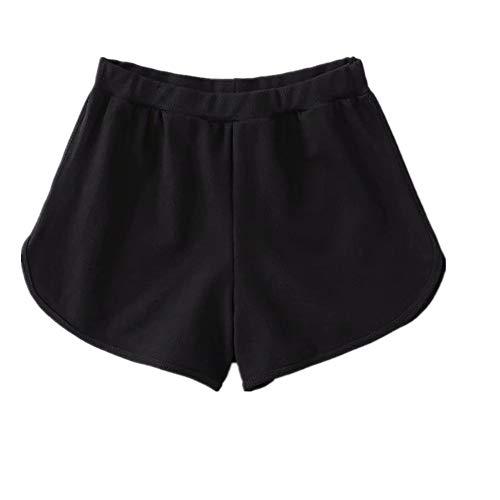 ZYKJHome - Pantalones cortos de deporte para correr, yoga, fitness, para mujer Naranja naranja M
