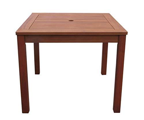 GRASEKAMP Qualität seit 1972 Gartentisch 90x90cm Natur Holztisch Tisch Gartenmöbel Eukalyptus