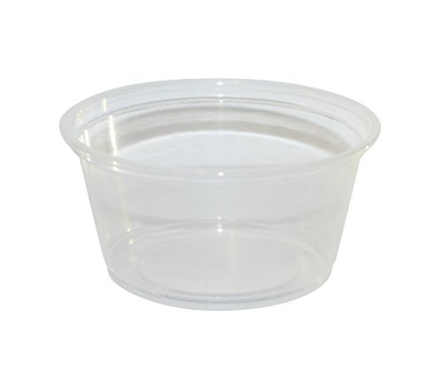 PARA 2 oz Plastic Souffle Portion Cup with Karat lids, Clear, 150/Pack