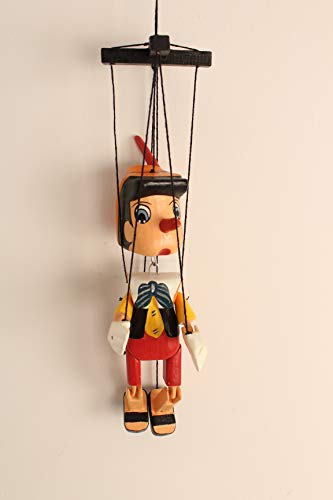 Marionette Puppets – String Puppets for Presents – Italian Real Boy Puppet for Dramatic Plays – Puppets for Presents – 13.7 x 3.7 x 2.2-inch Colorful and Realistic Puppet – Bright and Vivid Colors