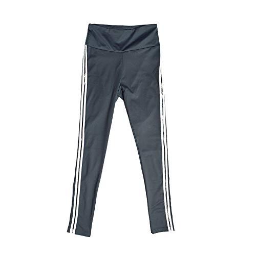 MOHAMED Deportes y Pantalones de Yoga de la Aptitud Que Basa la extensión del Blanco Pliegues Laterales de la Manera Simple (Color : Dark Grey, Size : S)