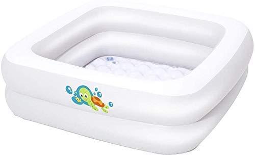 DFKDGL Klapppool Swimmingpool, quadratisches Planschbecken, aufblasbarer Pool, Babybadewanne 86 * 86 * 25CM Klappbarer Durab Ideal für alle Kinder und Erwachsene