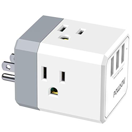 Multi Plug Outlet, Outlet expanders, POWSAV USB Wall Charger with...