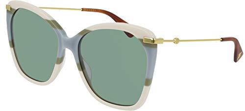 Gucci Gafas de sol GG0510S 008 Gafas de sol Mujer color Verde marfil tamaño de lente 56 mm