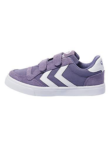 hummel Unisex-Kinder Stadil Canvas Mono Low JR Sneaker, Violett (Cadet), 37 EU