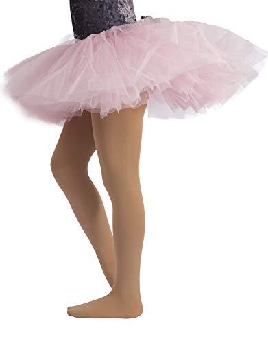 COLLANT DANZA BAMBINA | CALZE BALLET BIMBA | 40 DEN | ROSA, NERO, NATURALE, BIANCO | (8 anni, SKIN)
