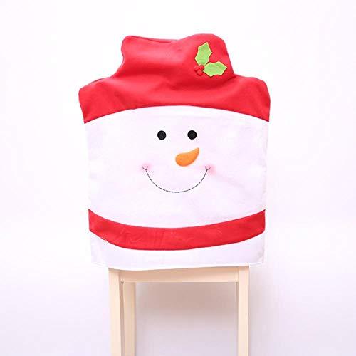 VHJ Funda para Silla Decoraciones navideñas para muñeco de Nieve en casa Sombrero Grande Decoración de Mesa de Hotel, Rojo