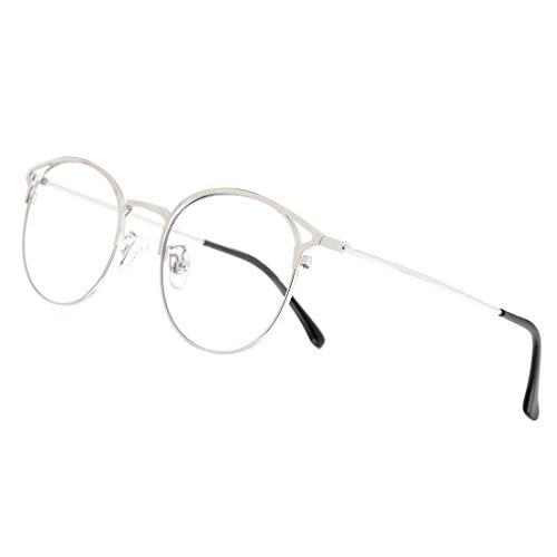 Cyxus - Occhiali da computer con lenti trasparenti e lenti in stile retrò, per uomo/donna