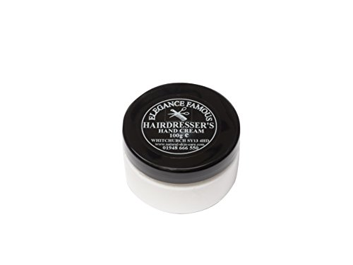 Crème Mains Coiffeuses 100g. Fabriqué par Elegance Natural Skin Care en Grande-Bretagne