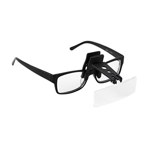 Präzise Lupe Klapp-Clip auf Flip Brillen Lupe Vergrößerung Handsfree