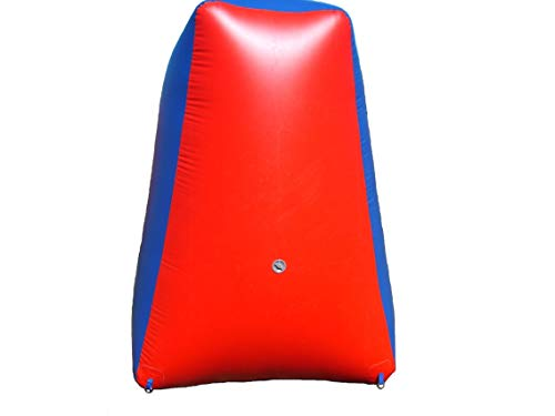 Sportogo Inflatable Air Bunker Pyramid for Paintball, Airsoft, Archery, Laser Tag, 1 Piece, 5 Foot Tall, Red & Blue