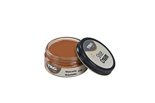 TRG Thoe One 109 - Crema para calzado y complementos de piel y piel sintética 50 ml, Marrón (109 Gazelle)