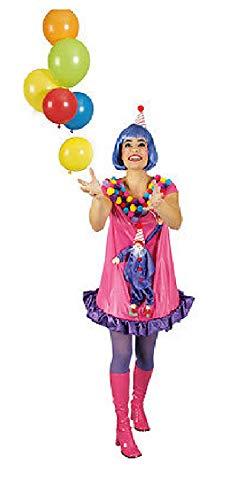 narrenkiste K31250204-36-38 - Vestido de payaso para mujer, talla 36-38, multicolor