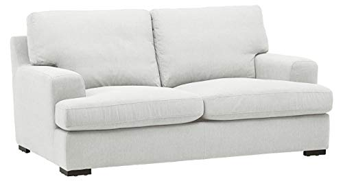 Amazon Brand – Stone & Beam Lauren Down-Filled Oversized Loveseat with Hardwood Frame, 74'W, Pearl