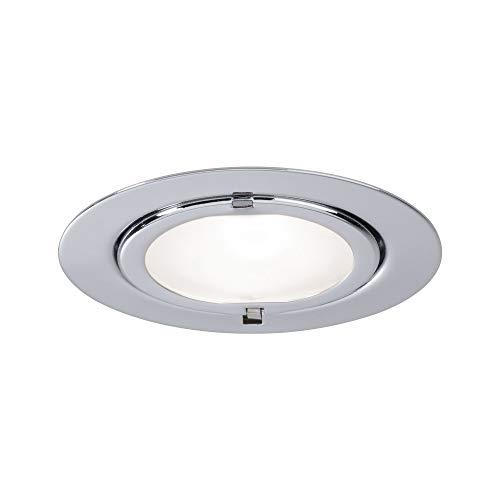Paulmann 98402 Micro Line Klipp inbouwspot plat inbouwspot max. 1x20W lamp bedrijfsspanning 12V G4 metalen spot chroom meubelinbouwlamp, zilver