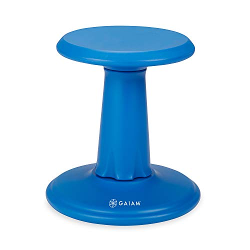 Gaiam Kids Wobble Stool Desk Chair - Alternative Flexible Seating Balance Wiggle Chair | ADHD Sensory Fidget Core Rocker Child Seat Elementary School Classroom Furniture for Student, Toddler, Ages 5-8