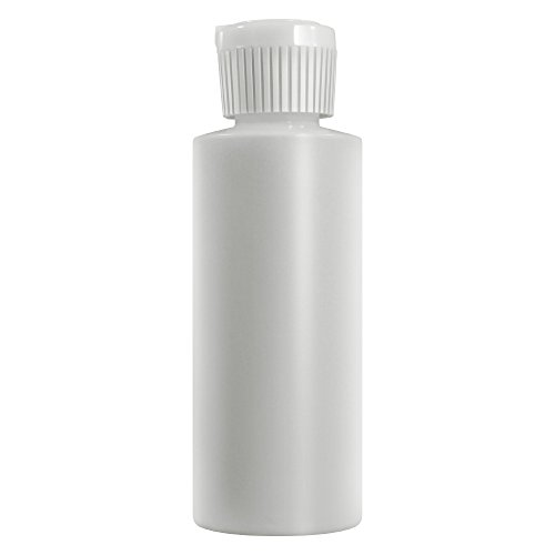 4 Oz Plastic Cylinder Bottles with Flip Top Pour Spout, Pack of 12