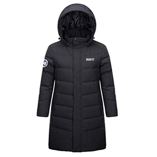 emansmoer Femme Winter Hooded Warm Puffer Thick Long Doudounes Parka Coat Lady Outdoor Fashion Overcoat(XL, Black)