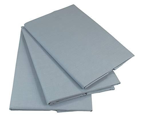 KMP know how in modern printing Bettlaken Betttuch Haustuch 100% Baumwolle ohne Gummizug viele Uni Farben (160 x 200 cm, Hellgrau)