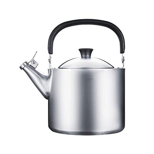 Hervidor de agua con silbido, cocina de inducción de acero inoxidable 3.5 ferr estufa de gas,Teteras para fogón
