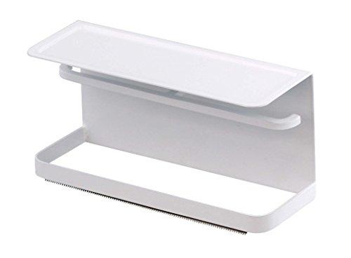 山崎実業 マグネット マスキングテープ ホルダー ホワイト 約W15.5×D6×H7.5cm タワー テープカッター 3903