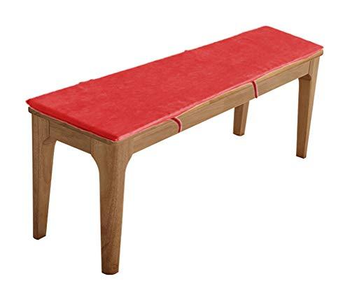 Cojín para banco de interior, cojín de columpio para exteriores, 2 3 y 4 plazas, antideslizante para silla larga, cojín para zapatero con cremallera (rojo, 30 x 80 x 3 cm)