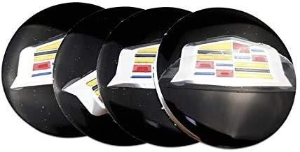 4 piezas, Cadillac ATS CTS DTS STS SLS SLR XLR BLS CT6 56mm Tapa de buje central para rueda de coche, cubiertas con pegatinas con logotipo, molduras, accesorios para coche