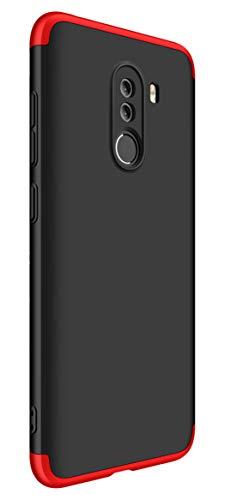 Tianqin Xiaomi Pocophone F1 Cover 360 Gradi Full Body 3 in 1 Rugged AntiGraffio Antiurto Bumper Custodia Ultra Sottile Matte Leggero Custodia Protettiva per Xiaomi Pocophone F1 - Nero Rosso