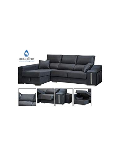 DECOR NATUR Sofá Chaiselongue Izquierda Oscar Color Gris