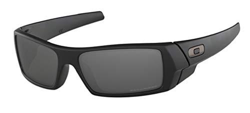 Oakley Gascan OO9014 12-856 61M Matte Black/Black Iridium Polarized Sunglasses for Men +BUNDLE with Oakley Accessory Leash Kit