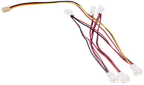 InLine 33436 Lüfter Adapterkabel, 3pol Molex Buchse an 6x 3pol Molex Stecker