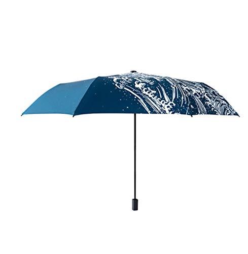 Paraguas paraguas plegable paraguas para todo clima paraguas de bolsillo para mujer paraguas para hombre paraguas de arco iris ventilador
