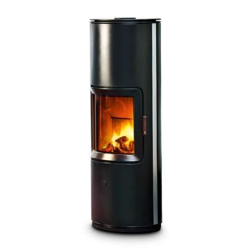 MCZ Kaminofen raumluftunabhängig STRIPE 7 kW Scheitholz Ofen Holzofen Stripe-7-silver