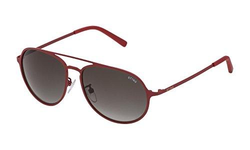 STING SST0045506F5 Occhiali da Sole, Rosso (Rojo), 55.0 Uomo