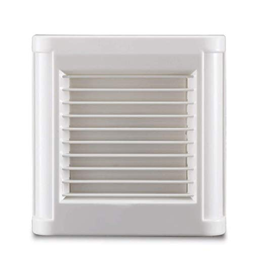 SHYPT Extintor Tranquila, Ventilador de ventilación, Cuadrado Blanco o de Montaje en Pared Extractor Ventilador for baño de Cristal de Ventana