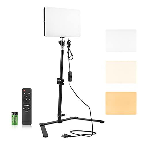 MOMIRA Camera Light LED Video Light Selfie Desk Light for Video Conference Photography Zoom Lighting Kit with Overhead Mount Dimmable 2700-5700K Photo Light Panel Streaming Studio Lights(M240,Upgrade)