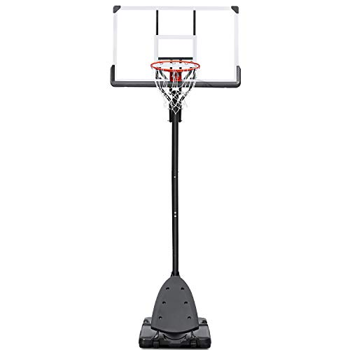 "MaxKare Portable Basketball Hoop Basketball Goal 54"" Basketball Backboard 7.5-10FT Height Adjustable Basketball System for Adult Youth Children Indoor Outdoor Use"