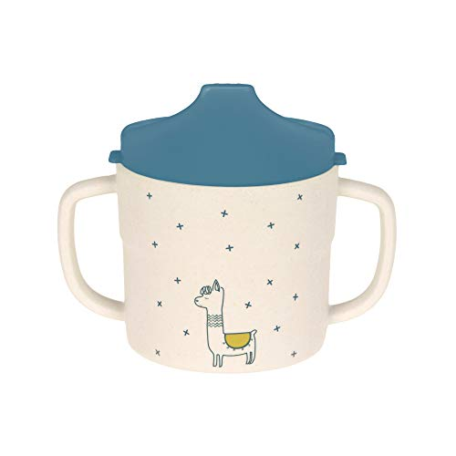 LÄSSIG Tazzina per bambini/Sippy Cup Glama Lama blue