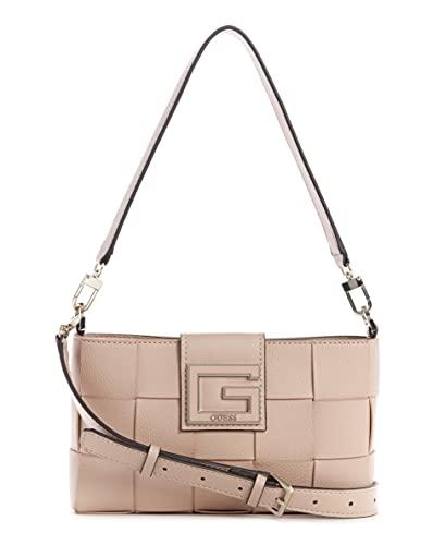 Guess Damen Top Zip Shoulder Bag Liberty City Umhängetasche mit Reißverschluss, Almond, One Size