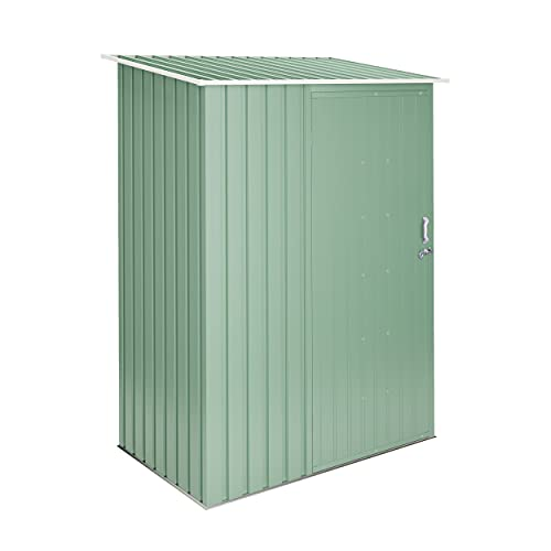 wasabi - Light Green Armario cobertizo 1,32 m2-142x93x186cm garantía 10 años