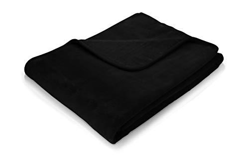 Traumschloss Uni Kuscheldecke Wohndecke Deluxe aus Polyester - 150 x 220 cm, Farbe:schwarz, Größe:150x220