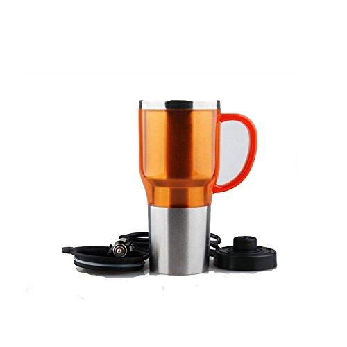 Ruirui-La Tasse Vide en Acier Inoxydable, Auto électrique Tasse, Tasse d'Eau Chaude, Bouteille d'Eau Chaude de Voyage, Tasses, Orange