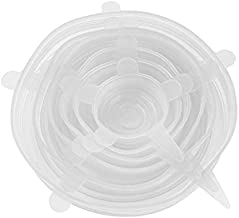 6pcs/set Silicone Lid Spill Stopper Universal Silicone Suction Lid-bowl Pan Silicone Cover Kitchen Pan Lids Cover Stoppers...