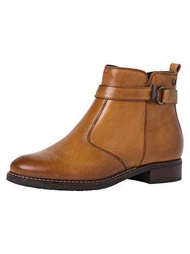 Tamaris Damen Stiefeletten, Frauen Ankle Boots, reißverschluss weiblich Ladies Women's Women Woman Freizeit leger Stiefel Bootie,NUT,39 EU / 5.5 UK