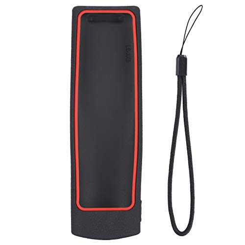PUSOKEI Funda Protectora de Mando a Distancia de TV, Funda Protectora de Silicona Antideslizante para Mando a Distancia para LG AKB75095307 RM-L1162(Negro + Rojo)