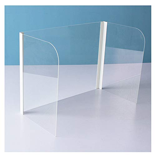 Double east Shatterproof Protective Shield,Transparent Protective Screen for School Students Kids Desktop and Office,Desk Plexiglass Shield Guard with 3 Sided
