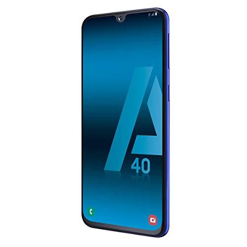 "Samsung Galaxy A40 Smartphone, Display 5.9"" Super AMOLED, 64 GB Espandibili, RAM 4 GB, Batteria 3100 mAh, 4G, Dual Sim, Android 9 Pie, [Versione Italiana], Blue"