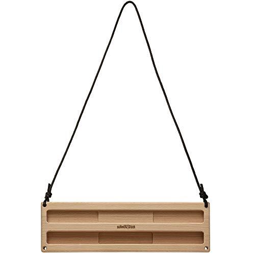 scHmERZ Stück Portable Hangboard - Trainingsboard, Kletterboard für In- und Outdoor